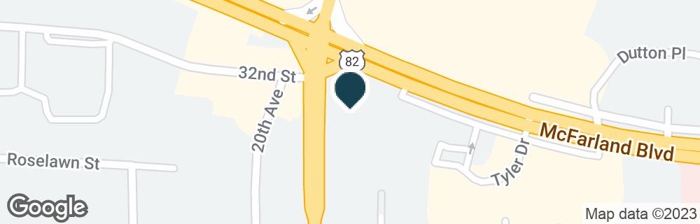Google Map of3107 LURLEEN B WALLACE BLVD