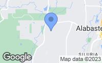 Map of Alabaster, AL