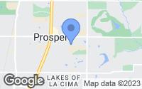 Map of Prosper, TX