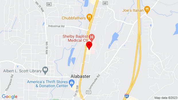 Google Map of 122 7th Avenue Northeast, Alabaster, AL 35007