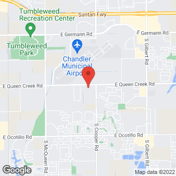 Map of Spencer Niemann, DPM at 1831 E Queen Creek Road, Chandler, AZ 85286
