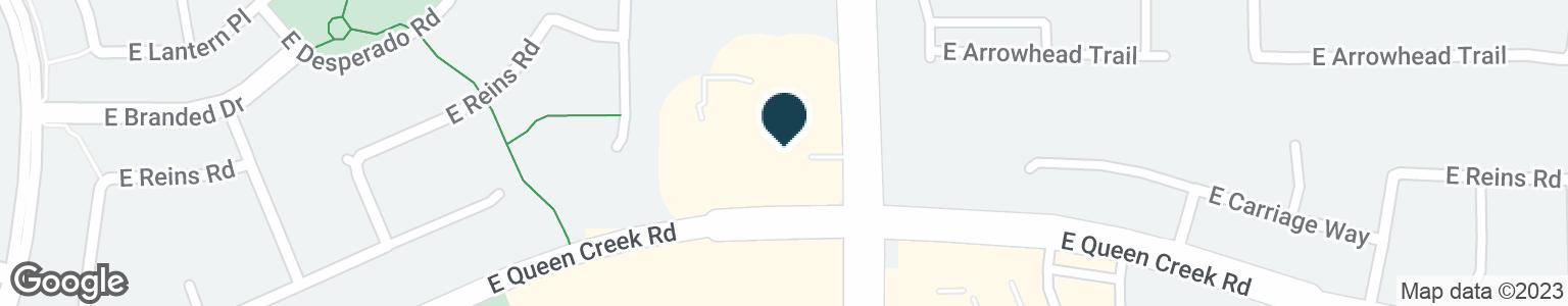 Google Map of4766 E QUEEN CREEK RD