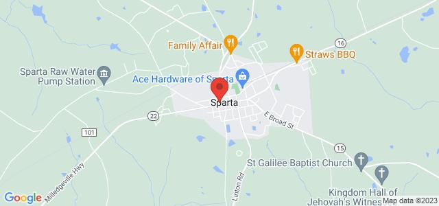 Sparta Flower Shop Map