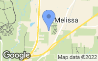 Map of Melissa, TX