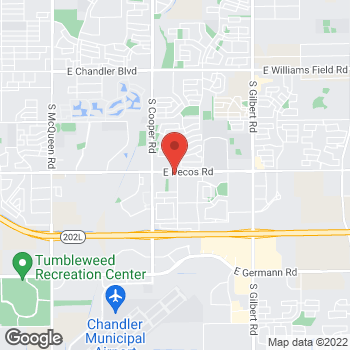 Map of Yan-Chiou Lai, PA at 2231 E Pecos Road, Chandler, AZ 85225