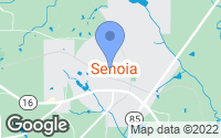 Map of Senoia, GA