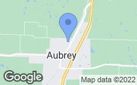 Map of Aubrey, TX