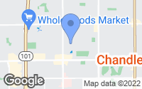 Map of Chandler, AZ