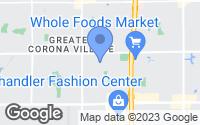 Map of Chandler, AZ