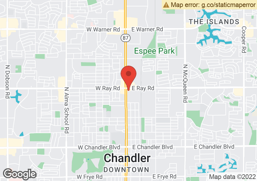 Google Map of 55 E RAY RD