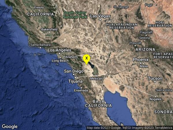 earthquake 18km SSW of Oasis, CA