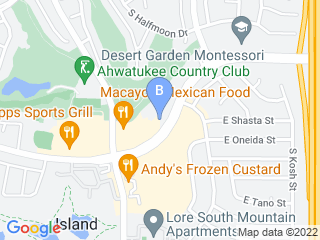Map of Ahwatukee Commons Veterinary Hospital Dog Boarding options in Phoenix | Boarding