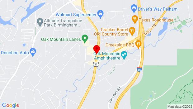 Google Map of 2252 Pelham Parkway, Pelham, AL 35124