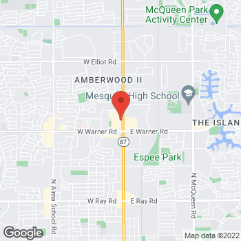 Map of Arby's at 2110 N Arizona Ave, Chandler, AZ 85224
