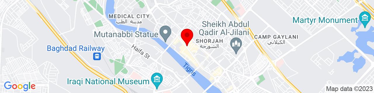 Google Map of 33.33861111111111, 44.39388888888889