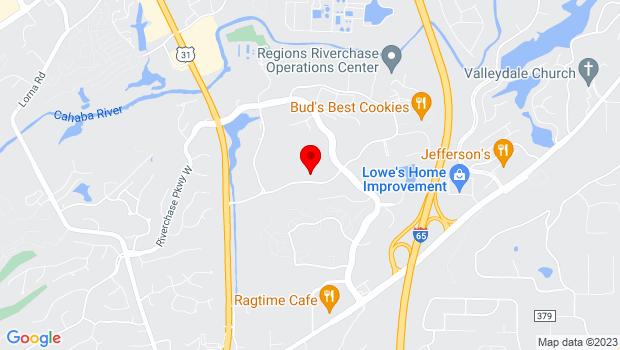 Google Map of 2193 Parkway Lake Drive, Alabaster, AL 35244