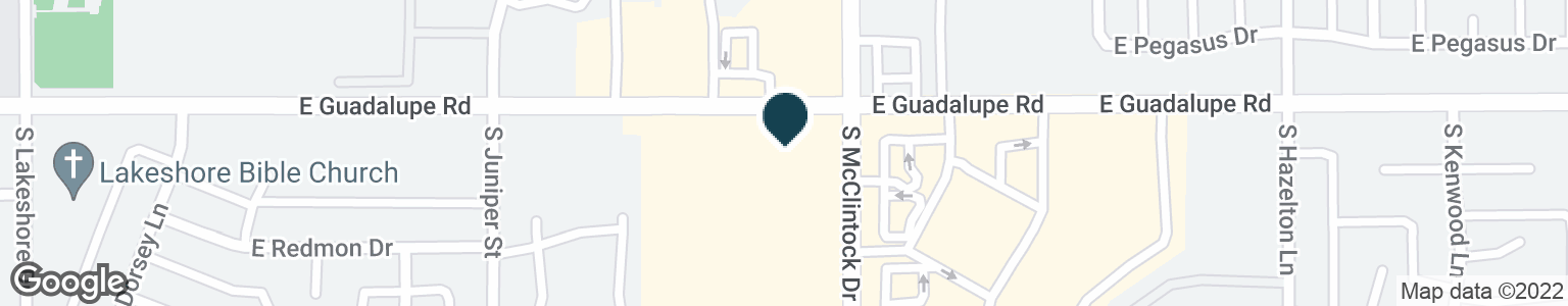 Google Map of6404 S MCCLINTOCK DR