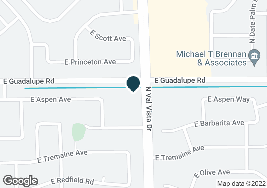 Google Map of1585 E GUADALUPE RD
