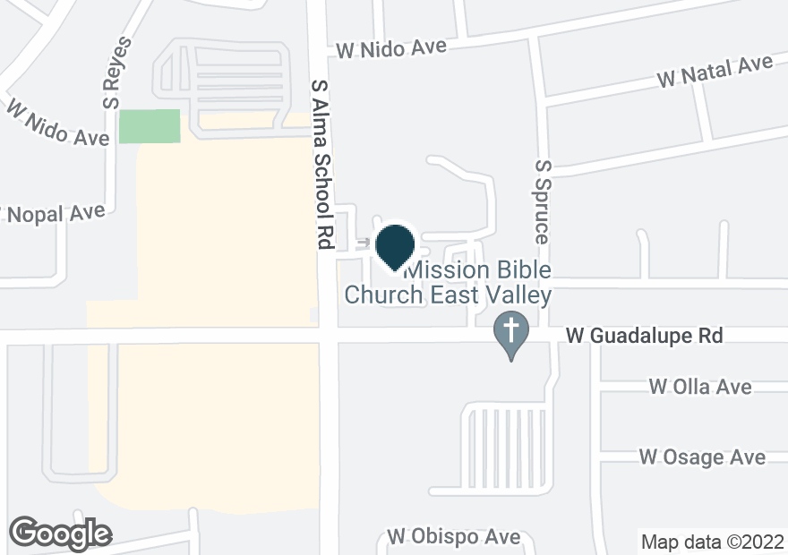 Google Map of1142 W GUADALUPE RD