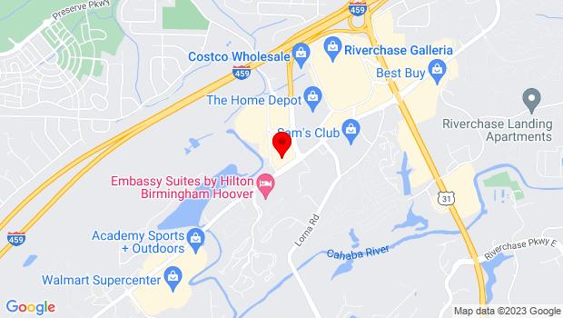 Google Map of 4450 Creekside Avenue , Hoover, AL 35244