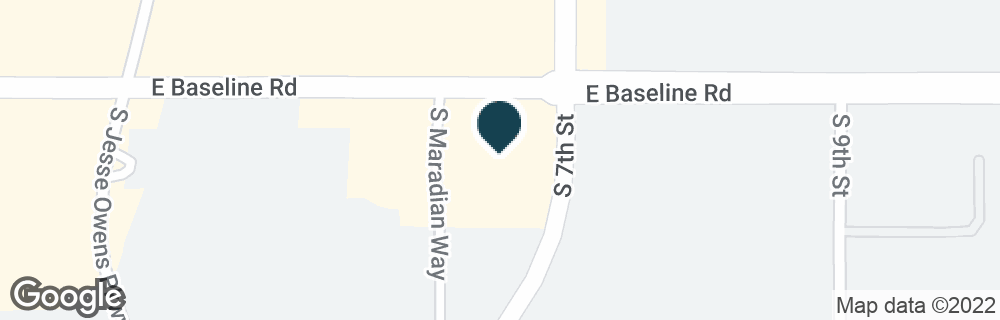 Google Map of7606 S 7TH ST