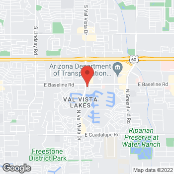 Map of Taco Bell at 3601 East Baseline Road, Gilbert, AZ 85234