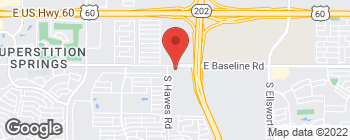 Map of 8419 E Baseline Rd in Mesa