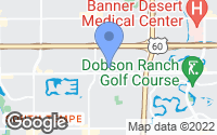 Map of Tempe, AZ