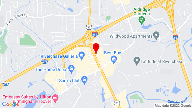 Google Map of 1731 Montgomery Highway, Birmingham, AL 35244