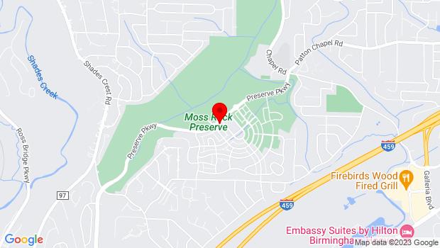 Google Map of 610 Preserve Pkwy, Birmingham, AL 35226