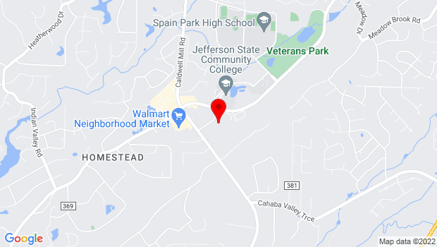 Google Map of 4601 Valleydale Road, Birmingham, AL 35242