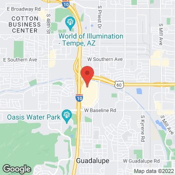 Map of 5006 S Arizona Mills Circle in Tempe