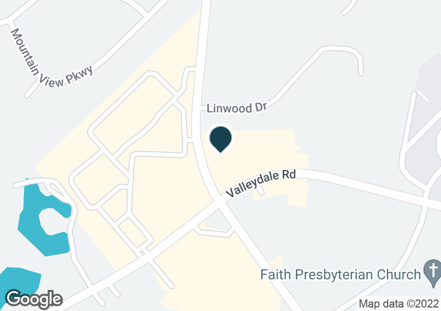 Google Map of4496 VALLEYDALE RD
