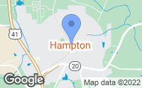 Map of Hampton, GA
