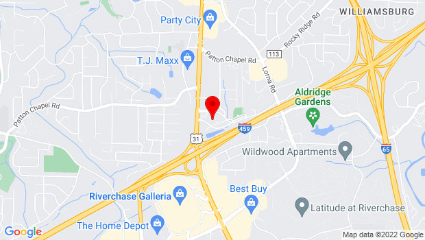 Google Map of 200 Municipal Drive, Hoover, AL 35216
