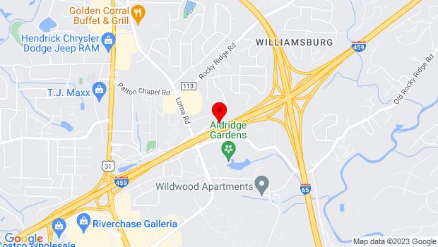 Google Map of 3443 Lorna Ridge Rd, Birmingham, AL 35216