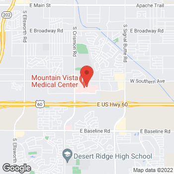 Map of Christopher Lang, PA at 1301 S Crimson Road, Mesa, AZ 85209