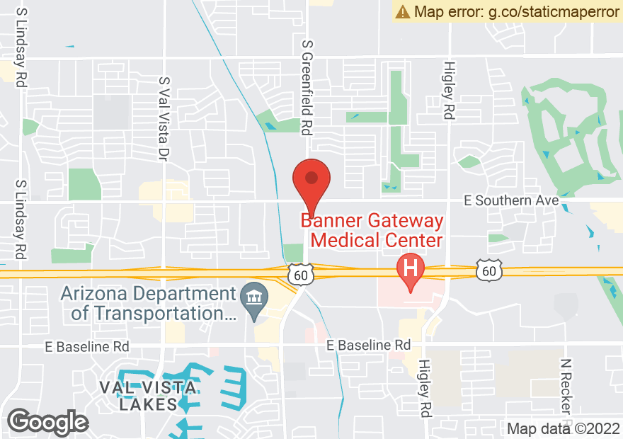 Google Map of 1305 S GREENFIELD RD