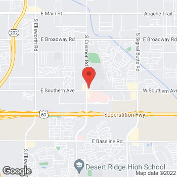Map of Carlos Baldit, MD at 1157 S. Crismon Roadunit 102, Mesa, AZ 85208