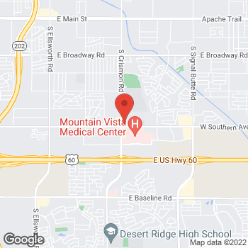 Map of Klint Webb, PA at 1157 S. Crismon Roadunit 102, Mesa, AZ 85208