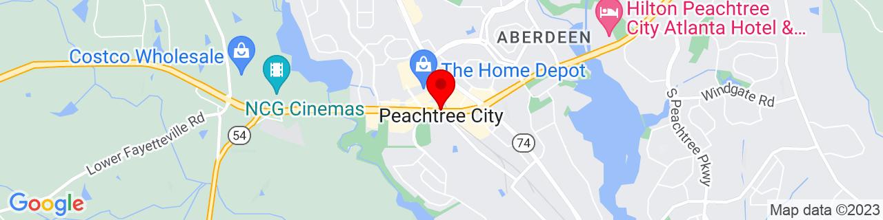 Google Map of 33.3968557, -84.59634319999999