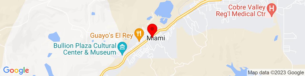 Google Map of 33.399166666666666, -110.86861111111111