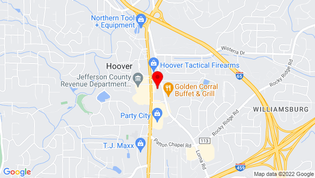 Google Map of 1581 Montgomery Highway, Suite 109, Birmingham, AL 35216