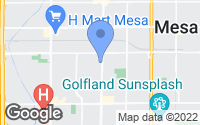 Map of Mesa, AZ