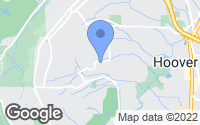 Map of Hoover, AL