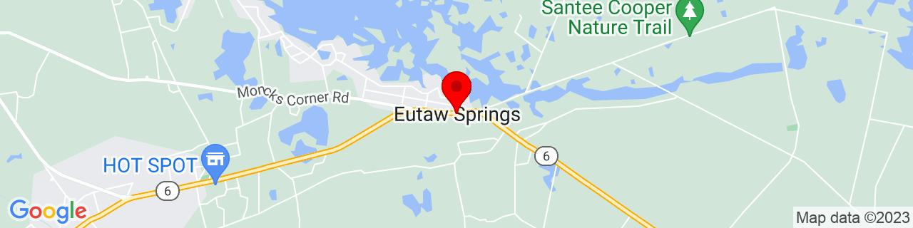 Google Map of 33.4068303, -80.30092169999999