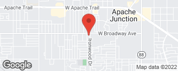 Map of 850 S Ironwood Dr in Apache Junction