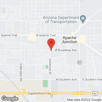 Map of Jesse Hatgis, DO at 1545 W Broadway Avenue, Apache Junction, AZ 85120