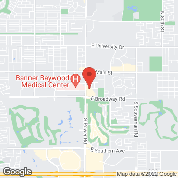 Map of Bindu Jayavelu, MD at 301 S Power Road, Mesa, AZ 85206