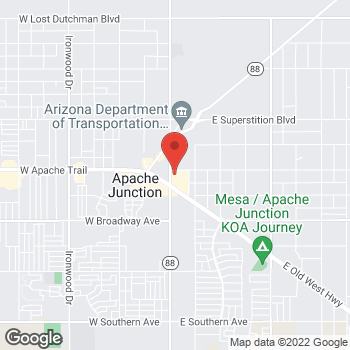 Map of Addie Roderick, NP at 95 S Idaho Road, Apache Junction, AZ 85119